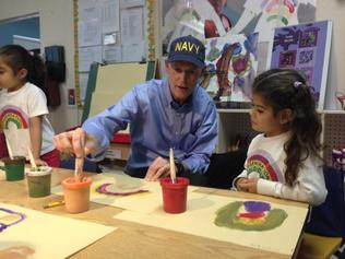 Florida Gov. Rick Scott kickstarts his education campaign at daycare center in Little Havana on Tuesday.