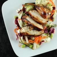 Grilled Asian Inspired Chicken with Pickled Vegetable Slaw - Solid Gold Eats
