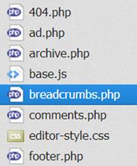 パンくずリストファイルの作成