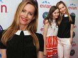 Leslie Mann sports a chic monochrome ensemble as she and daughter Maude lead the celebrity guests on day three of Wimbledon