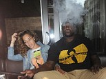 Smokin'! Basketball star Shaquille O'Neal takes new girlfriend Laticia Rolle out on a shisha date in London