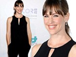 Jennifer Garner is stunning in black jumpsuit on the red carpet at The Thirst Project gala, which she is hosting in Beverly Hills Tuesday night