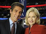 Side by side: David Muir and Diane Sawyer pictured together at the 2012 Republican National Convention in Tampa, Florida