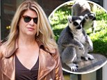 I've lost three lemurs! Kirstie Alley finds bizarre way to reveal she has dropped an impressive 20 pounds