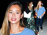 Girl's night out! Vanessa Hudgens and Jamie Chung got to catch up as the cast of Sucker Punch reunited for dinner at vegan restaurant Crossroads in Hollywood on Tuesday evening