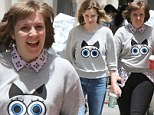 Lena Dunham has a Single White Female moment with Girls guest star Gillian Jacobs as she dons identical quirky sweater to film scenes in the Brooklyn