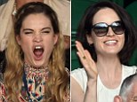 Lily James and Michelle Dockery