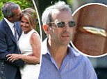 Staycation! Katie Couric's new husband John Molner flashes ring in Hamptons days after backyard wedding... which Matt Lauer did NOT attend