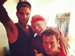 Very amicable exes! Zachary Quinto reunites with two former beaus Jonathan Groff and Jesse Tyler Ferguson to perform at NYC theatre gala