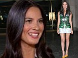 'Where's my next boyfriend?' Olivia Munn displays her long legs in tiny shorts as she jokes about celebrity dating on the Today show