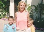 Me and my boys: Britney poses for a photo with sons Jayden James and Sean Preston in a shot added to hr Instagram account