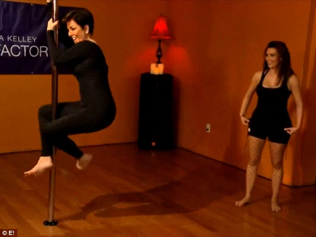 Then she did it: Kris Jenner couldn't help herself and followed in the beauty's footsteps during a workout with Sheila Kelley
