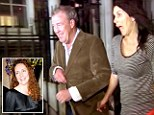 Jeremy Clarkson emerges with a mystery woman from a Rebekah Brooks celebration party after she was cleared of all charges in the hacking scandal