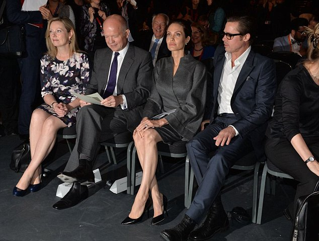 Mr Hague has struck up a close working relationship with Miss Jolie since 2011, when he responded to her film about the Bosnian war, Land of Blood and Honey