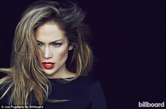 Smoking: J-Lo struck one of her sultriest poses