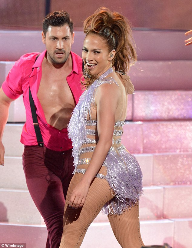 New man on the hook: Jennifer Lopez is rumoured to be dating Maksim Chmerkovskiy, pictured at the American Music awards in November