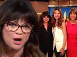 Valerie Bertinelli wears slimming black ensemble to discuss weight gain on talk show circuit