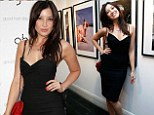 Daisy Lowe showcasing her svelte figure in plunging LBD as she DJ'S at GHD exhibition