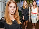Princess Beatrice cuts an elegant figure in knee-length black dress at London party