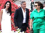 The Hollywood star whisked Mrs Alamuddin out to his £25million holiday home ¿ where the couple have been relaxing ¿ for what is believed to be their first meeting