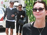 Let's get physical! Courteney Cox and her toy boy love Johnny McDaid dress very sporty for a fancy Beverly Hills lunch date
