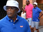 True Bromance! Samuel L Jackson and Magic Johnson have a ball as they enjoy family holiday together in Italy