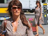 Yes we can! Helena Christensen copies President Obama as she indulges in lunch from Mexican fast food chain Chipotle