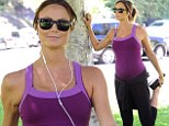The fittest baby bump in Hollywood! Stacy Keibler enjoys yet another outdoor workout as she ensures she's in tip-top shape for impending birth