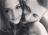 Romantic: Jacqueline Jossa has now also confirmed her and Dan's relationship by posting an intimate selfie of the pair