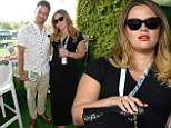 Kimberley Walsh and Justin Scott at Wimbledon