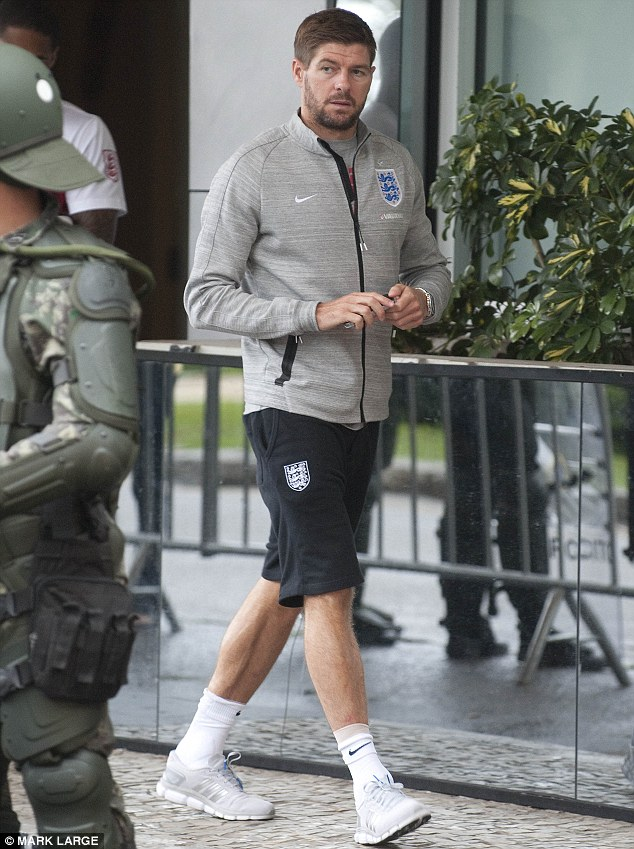 Ready to go: Steven is currently in Brazil to lead England in the World Cup
