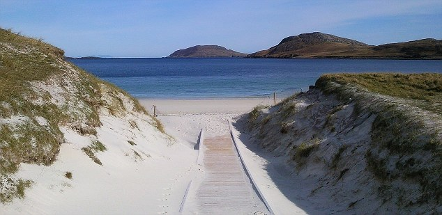 White sandy beaches: Barra Beach on the island of Barra in Scotland, was named in fifteenth place