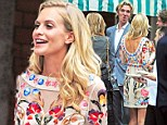 She has has a penchant for thigh-skimming minidresses. And Poppy Delevingne certainly turned heads as she wowed in a colourful, folk-inspired number.