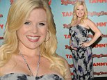 Pregnancy chic: Expectant star Megan Hilty looked lovely in a patterned halter dress as she attended a film screening of Tammy in New York on Thursday