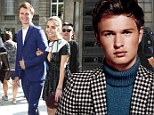 Stud: Ansel Elgort smoulders in GQ's July issue which hits newsstands July 1