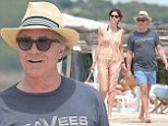 St. Tropez Vice! Don Johnson hits the beach with his wife Kelley Phleger on the French coast