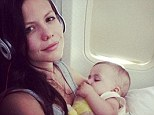 Jet set baby! 'First flight to Maui! She was amazing!' Actress Tammin Sursok shows off angelic eight-month-old baby Phoenix on a long-haul flight