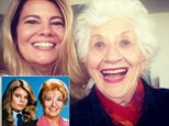Mini reunion: Lisa Whelchel, 51, shared a cute photo to Instagram with former Facts Of Life co-star 88-year-old Charlotte Rae. She captioned the silly snap, 'She gave me some good advice. Just like old times'