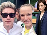Michelle Dockery and Niall lead the celebrity arrivals at Wimbledon... as the One Direction star poses for selfie with Danish ace Caroline Wozniacki