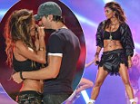 Dirty Dancers! Nicole Scherzinger puts on a steamy performance with Enrique Iglesias at Isle of MTV while flashing toned tum in crop top and lace shorts
