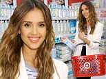 She's a bargain shopper too! Jessica Alba glows as she launches her eco-friendly product line The Honor Company at Target