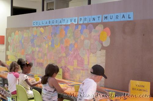 collaborative print mural Pittsburgh Childrens Museum