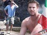 Liam Hemsworth in Portofino