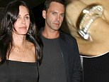 Nice diamond! Courteney Cox, 50, accidentally flashes engagement ring from fiancé Johnny McDaid, 37, night before announcing happy news
