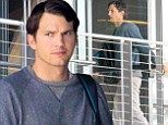 Just another working stiff? Ashton Kutcher arrives at Beverly Hills office...after being ranked #10 on a list top 20 angel investors