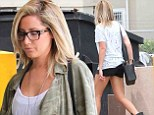 Things are just peachy! Ashley Tisdale highlights her pert derriere and toned legs in hotpants after premiere of new show