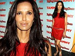 Lady in red! Padma Lakshmi proves you do not need to dress up to look glamorous in a causally chic ensemble at Tammy screening