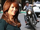 Casper Smart enjoys a motorcycle ride in LA... amid reports he visited his ex Jennifer Lopez on set of her new movie this week