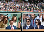 They are the best seats in the house - so it's no surprise that for day four of the Wimbledon Championships the Royal Box was full of famous faces.