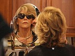Retail therapy: Jane Fonda tried on sunglasses and jewellery at a Beverly Hills boutique on Friday